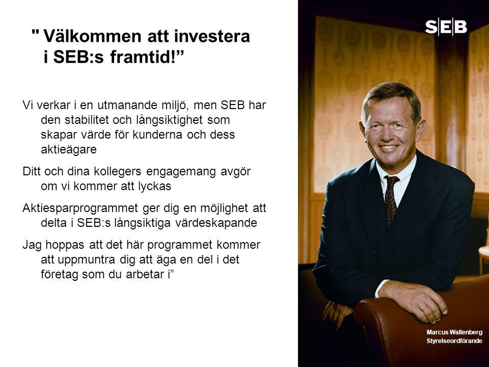 Välkommen att investera i SEB:s framtid!
