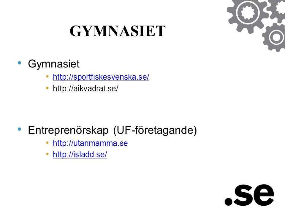 GYMNASIET Gymnasiet Entreprenörskap (UF-företagande)