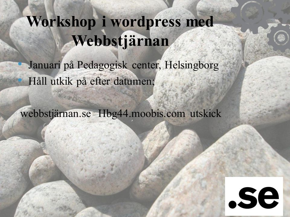 Workshop i wordpress med Webbstjärnan