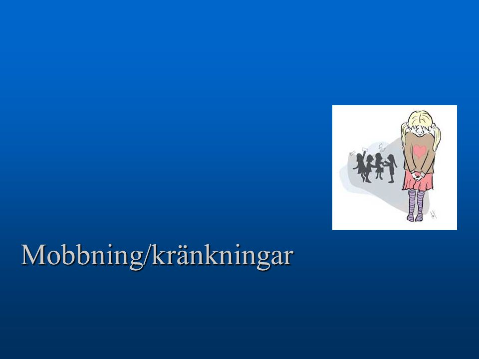 Mobbning/kränkningar