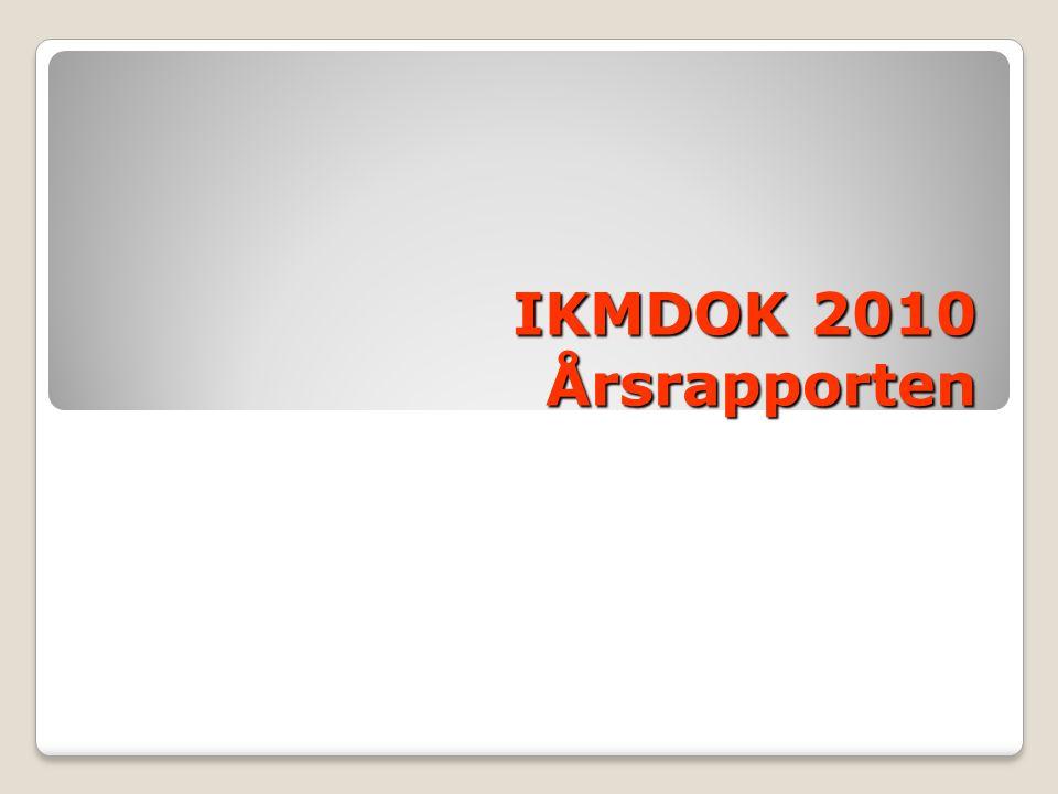 IKMDOK 2010 Årsrapporten