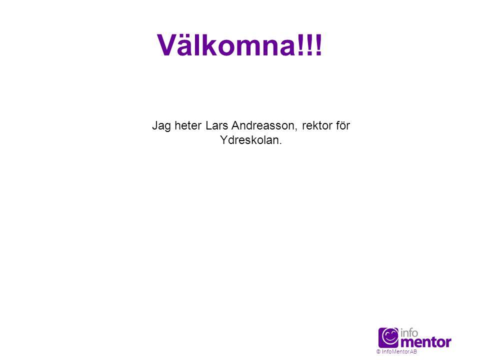 Jag heter Lars Andreasson, rektor för Ydreskolan.