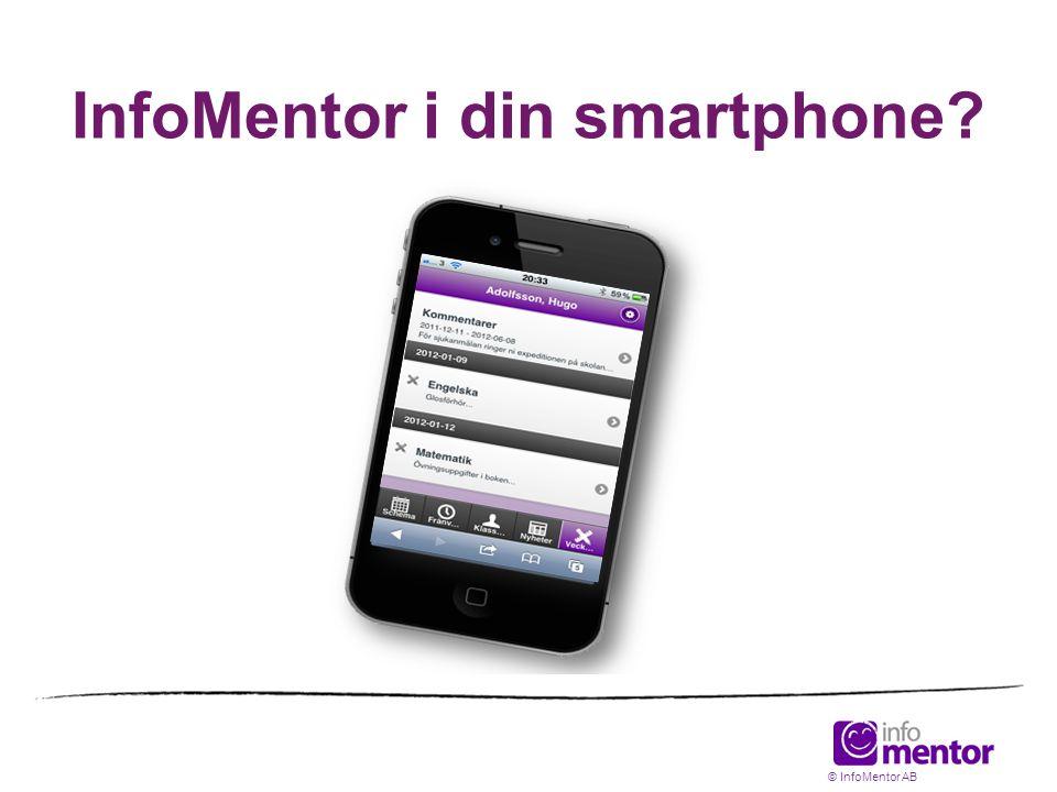 InfoMentor i din smartphone