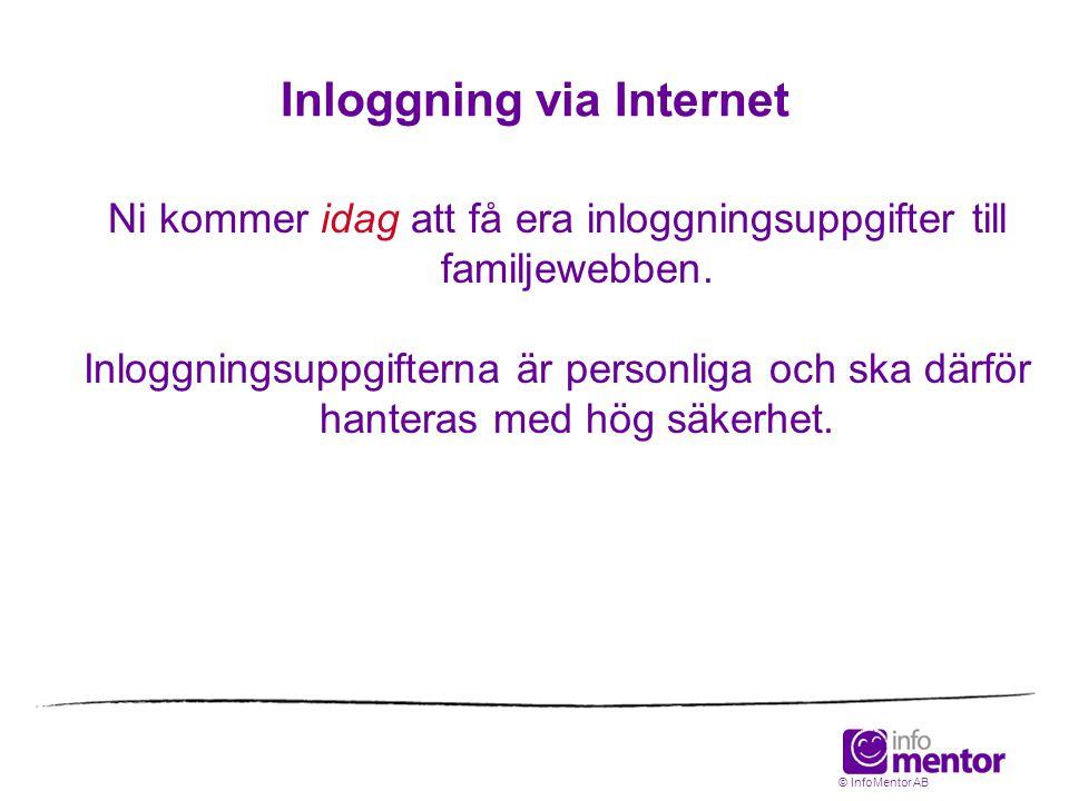 Inloggning via Internet