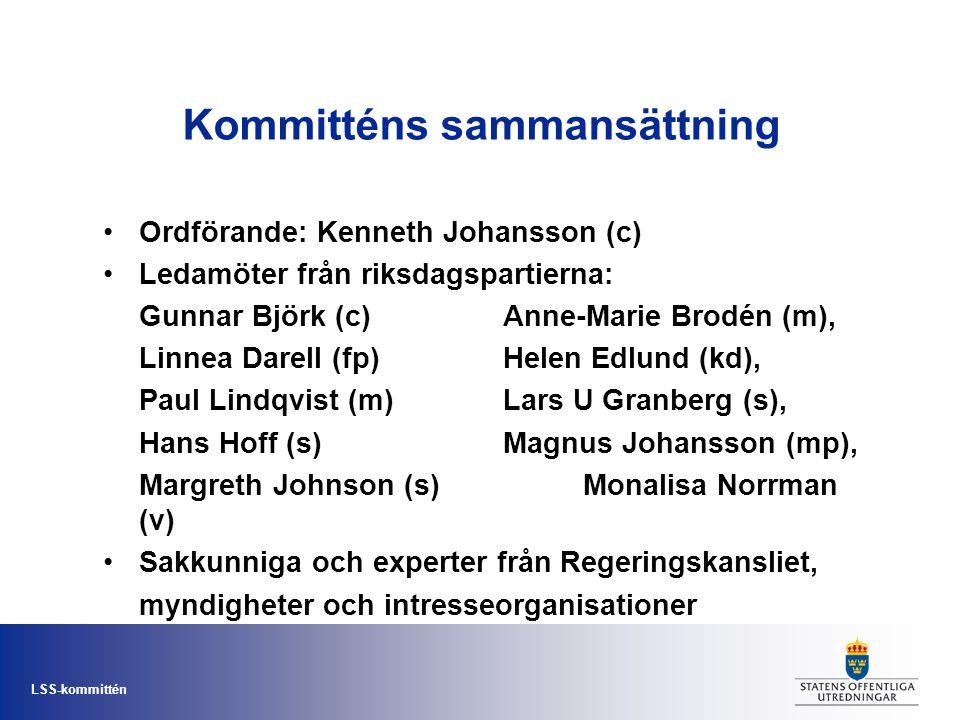 Kommitténs sammansättning