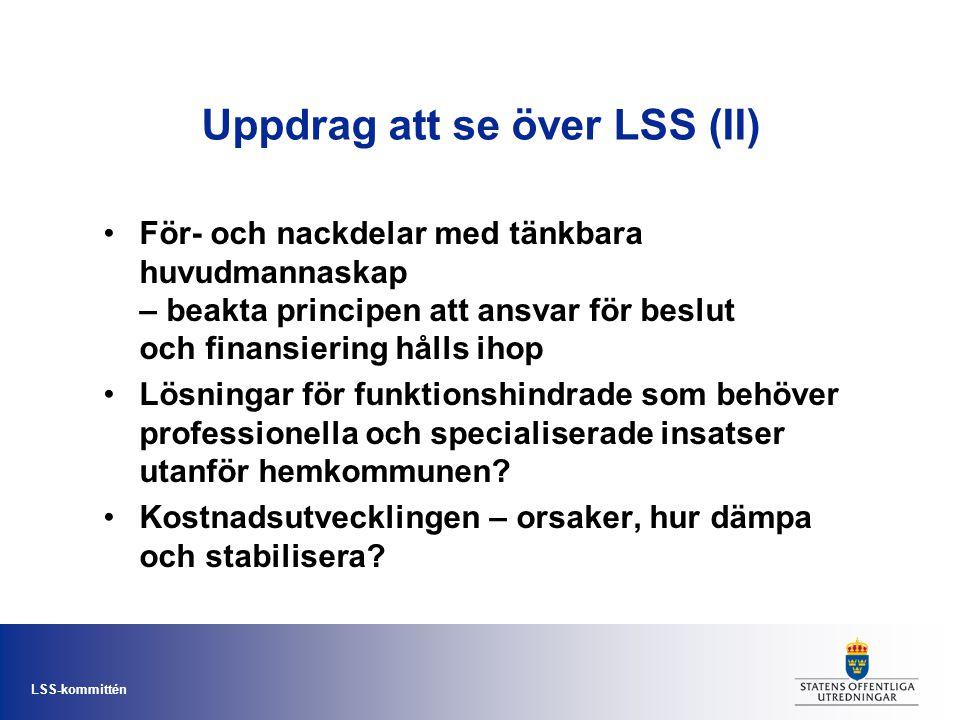 Uppdrag att se över LSS (II)