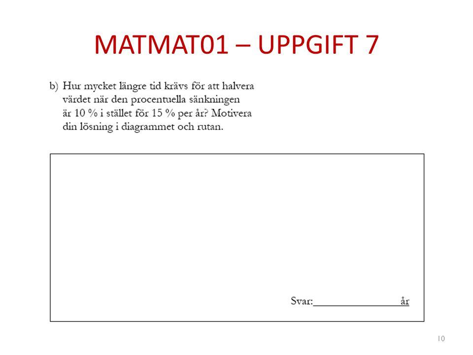MATMAT01 – UPPGIFT 7