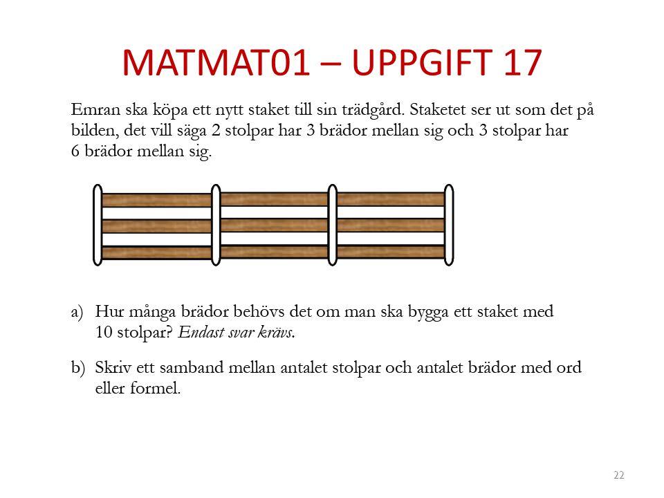 MATMAT01 – UPPGIFT 17