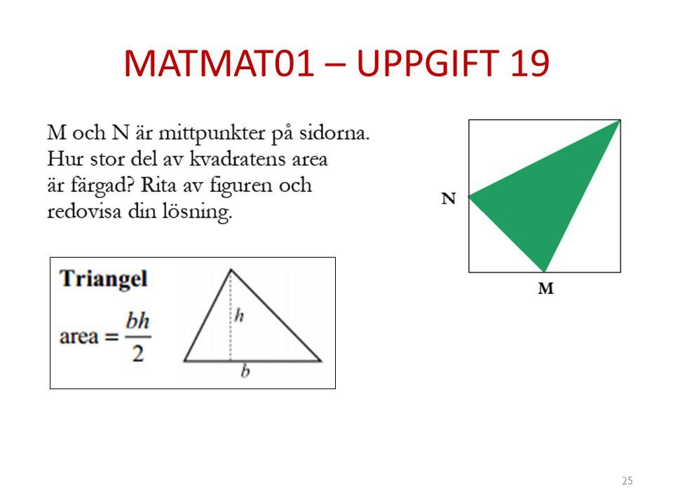 MATMAT01 – UPPGIFT 19