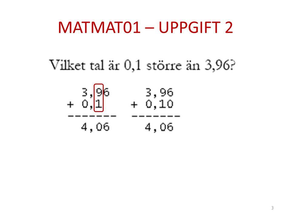 MATMAT01 – UPPGIFT 2