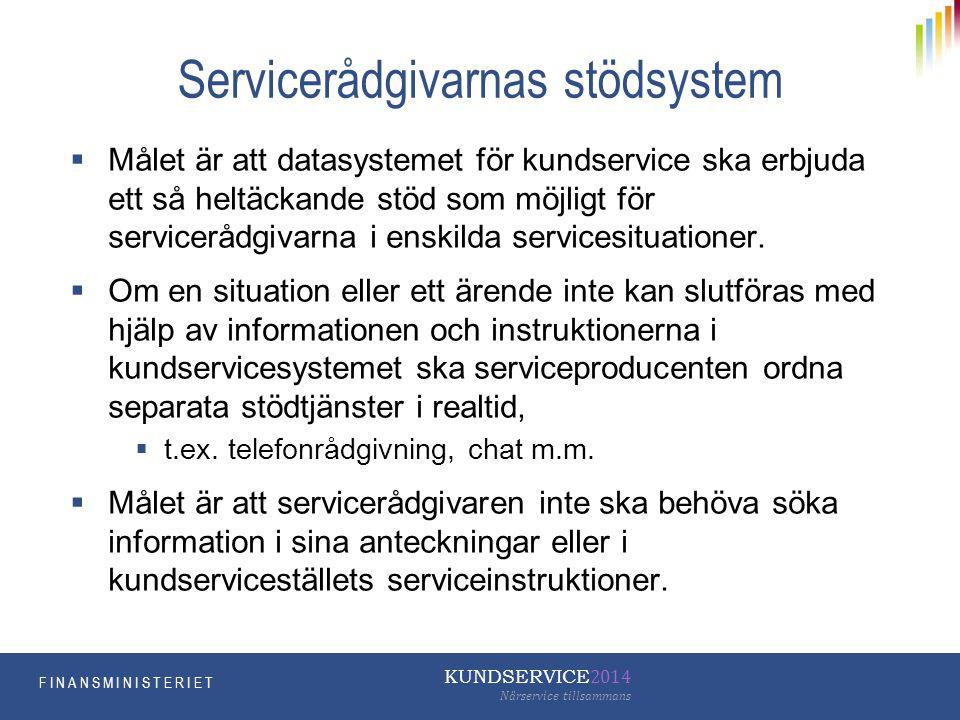 Servicerådgivarnas stödsystem