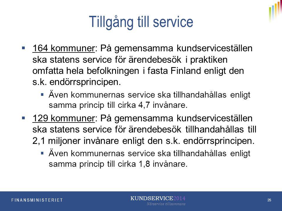 Tillgång till service