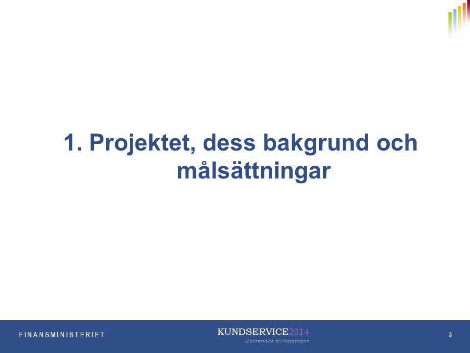 1. Projektet, dess bakgrund och målsättningar