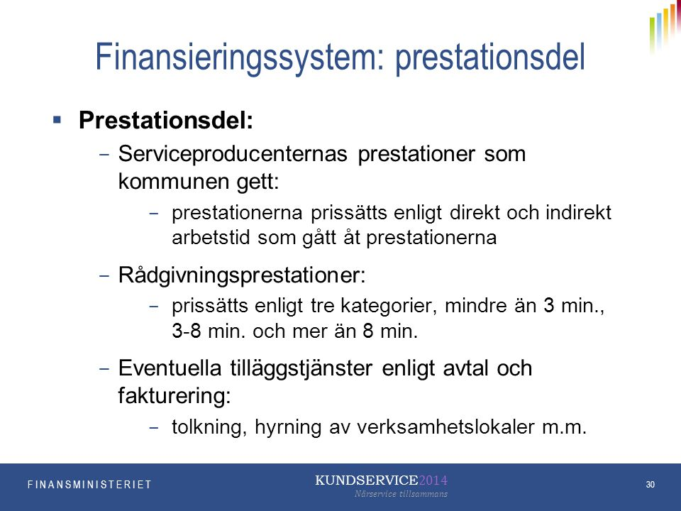 Finansieringssystem: prestationsdel