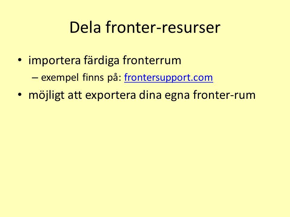 Dela fronter-resurser