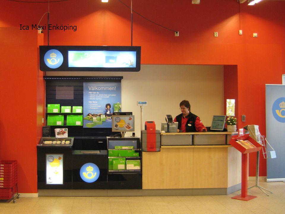 Ica Maxi Enköping Postens nya koncept för Postombud (ex förbutik)