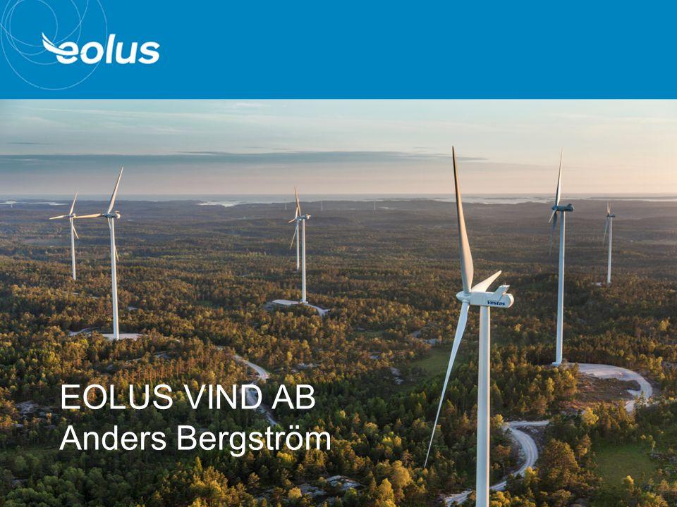 EOLUS VIND AB Anders Bergström