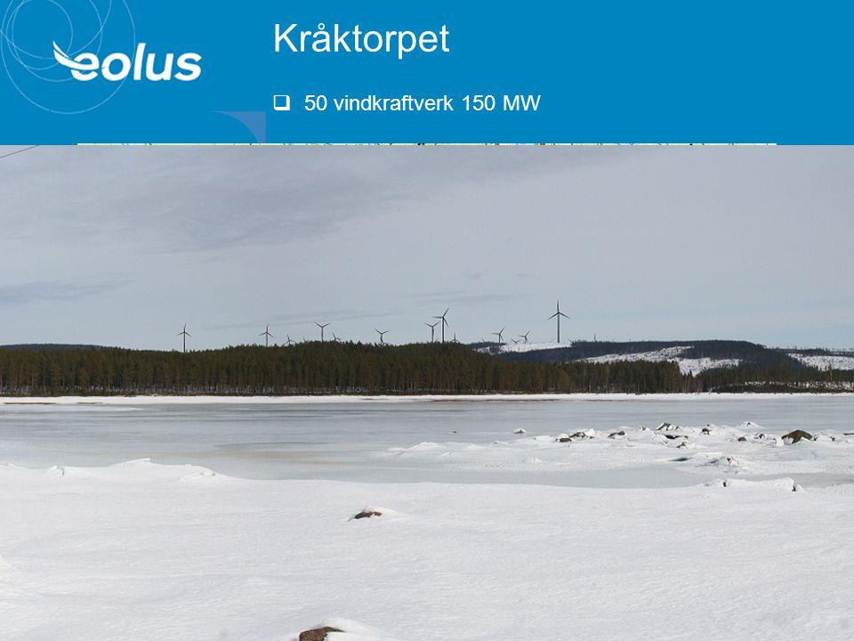 Kråktorpet 50 vindkraftverk 150 MW