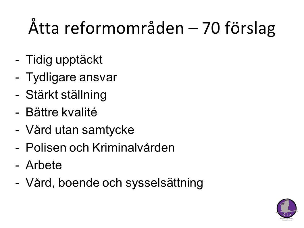Åtta reformområden – 70 förslag