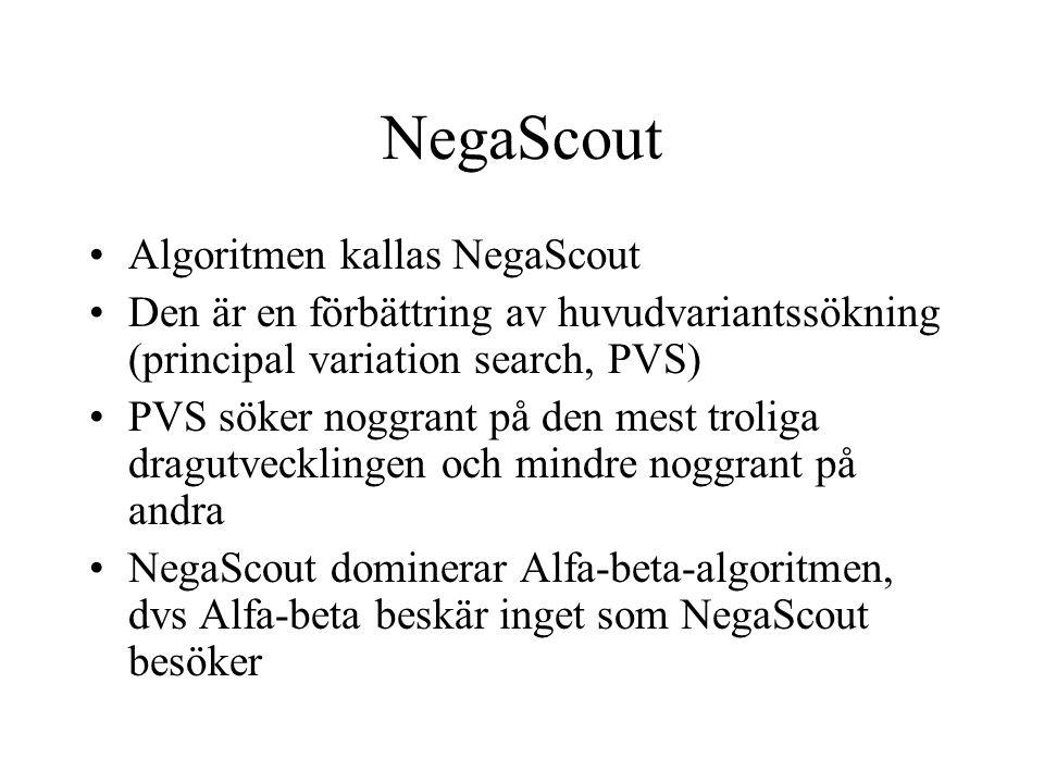 NegaScout Algoritmen kallas NegaScout