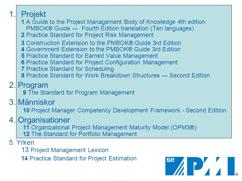 2. Program 9 The Standard for Program Management