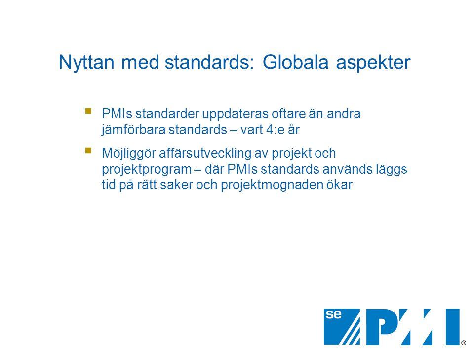 Nyttan med standards: Globala aspekter