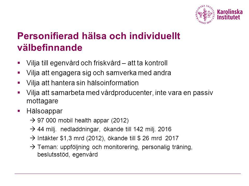 Personifierad hälsa och individuellt välbefinnande