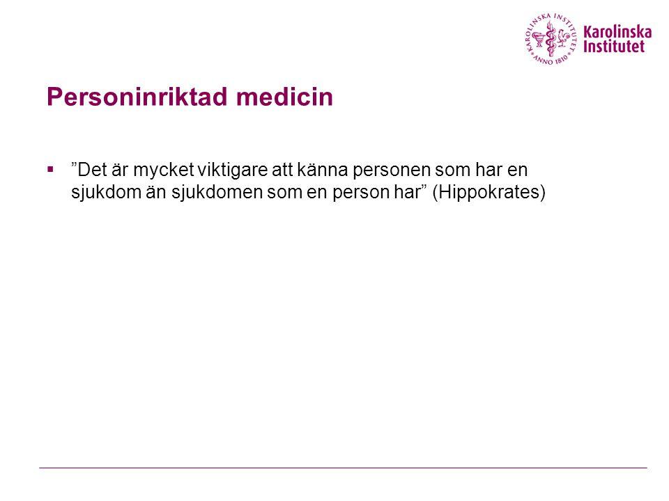 Personinriktad medicin