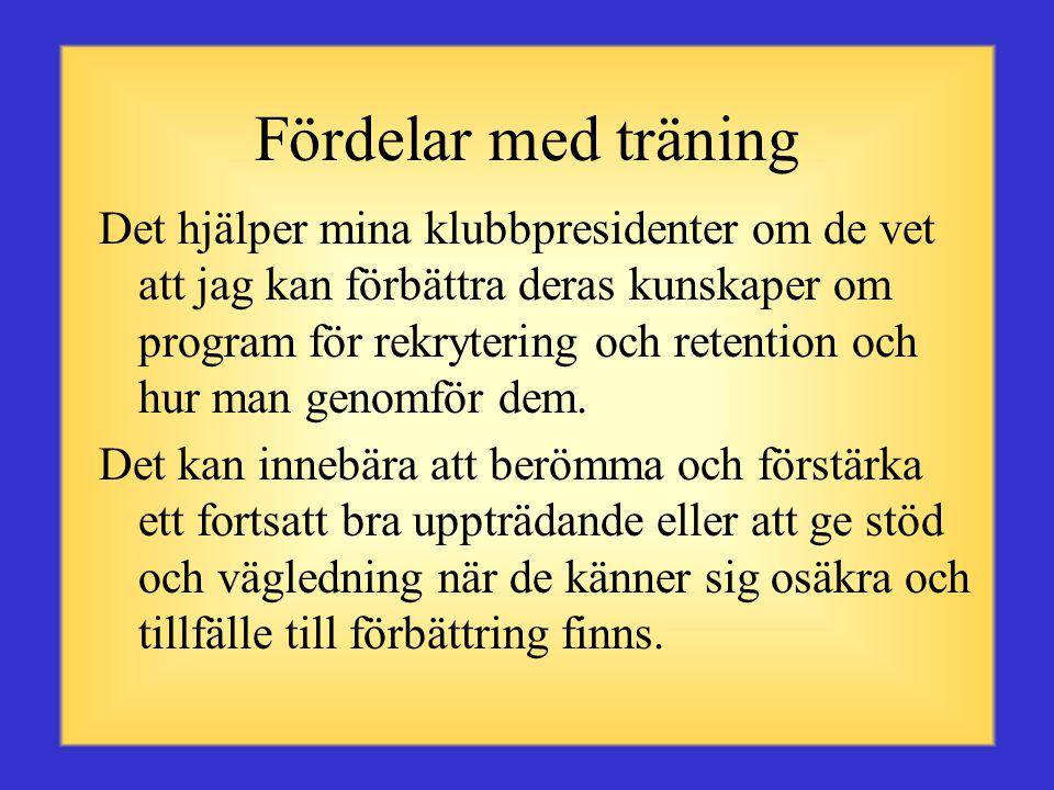 Fördelar med träning