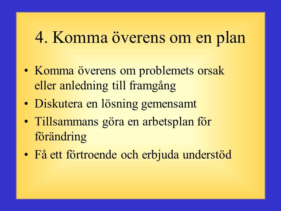 4. Komma överens om en plan