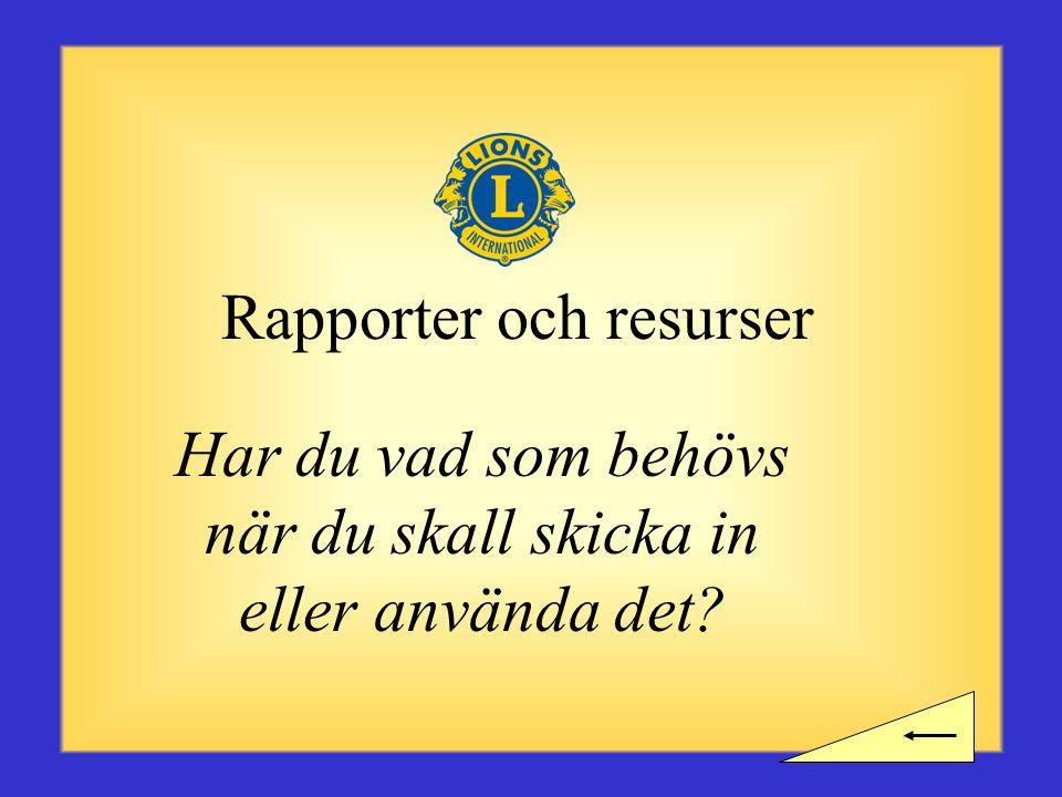 Rapporter och resurser