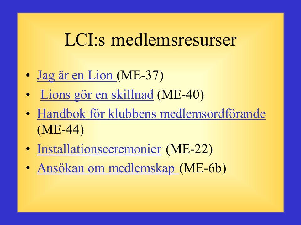LCI:s medlemsresurser
