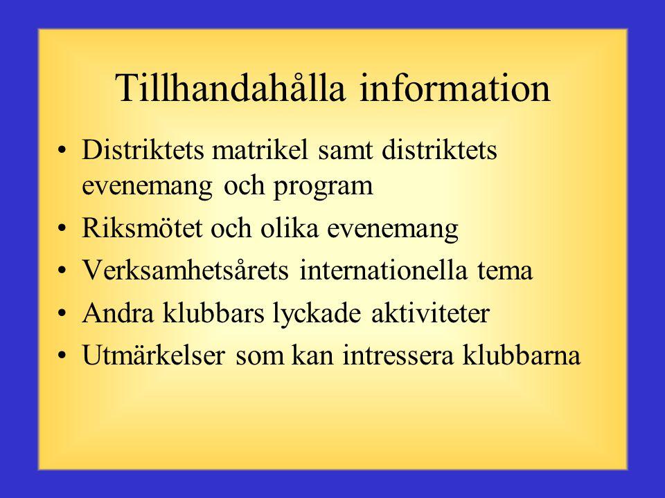 Tillhandahålla information