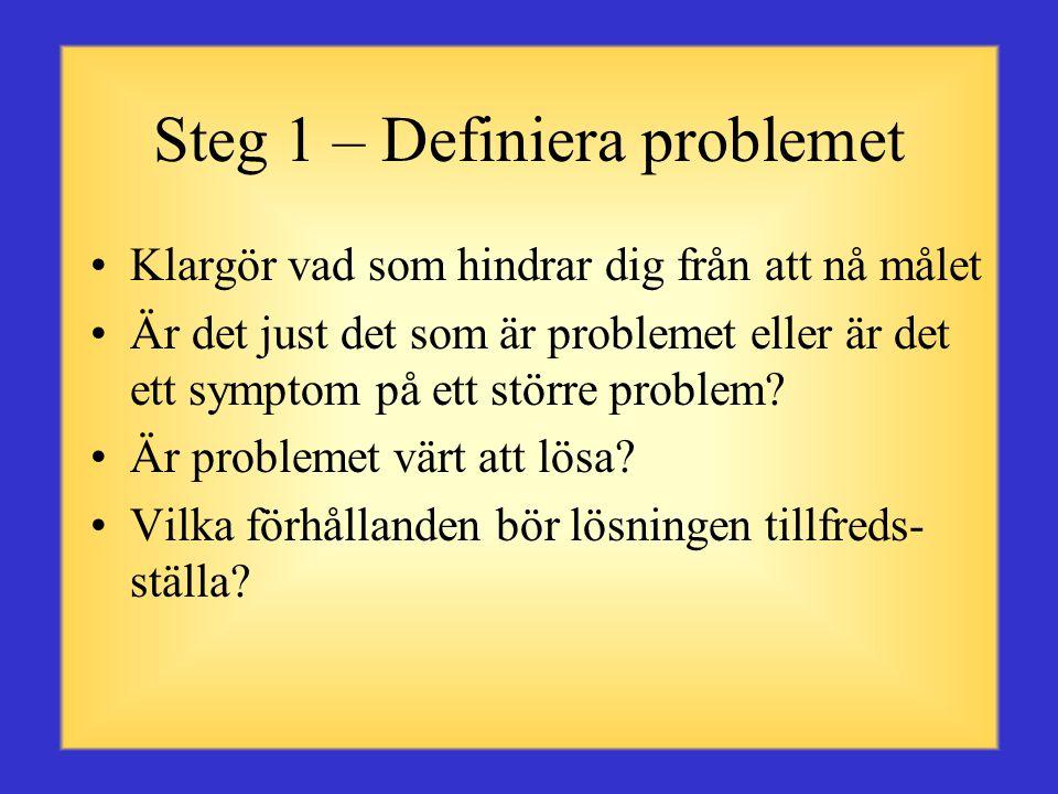 Steg 1 – Definiera problemet