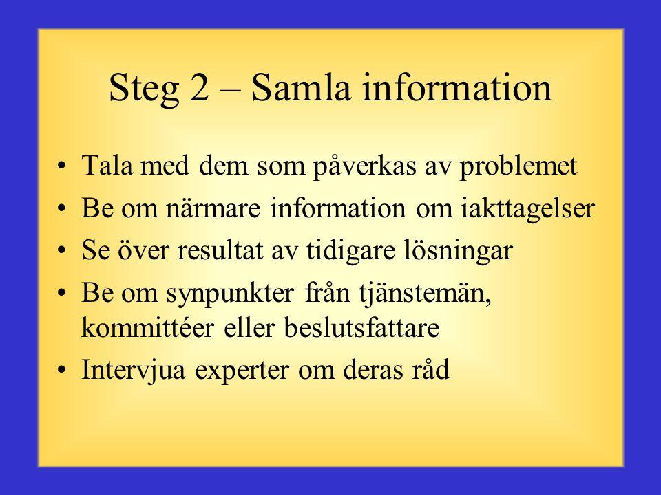 Steg 2 – Samla information