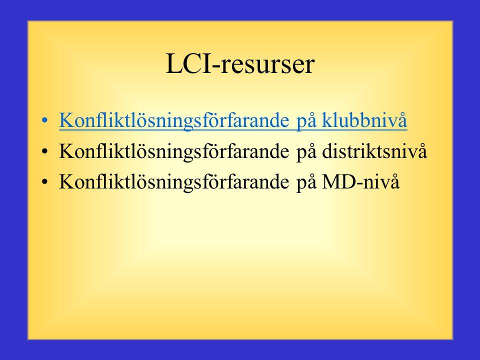 LCI-resurser Konfliktlösningsförfarande på klubbnivå