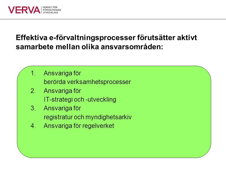Effektiva e-förvaltningsprocesser förutsätter aktivt samarbete mellan olika ansvarsområden: