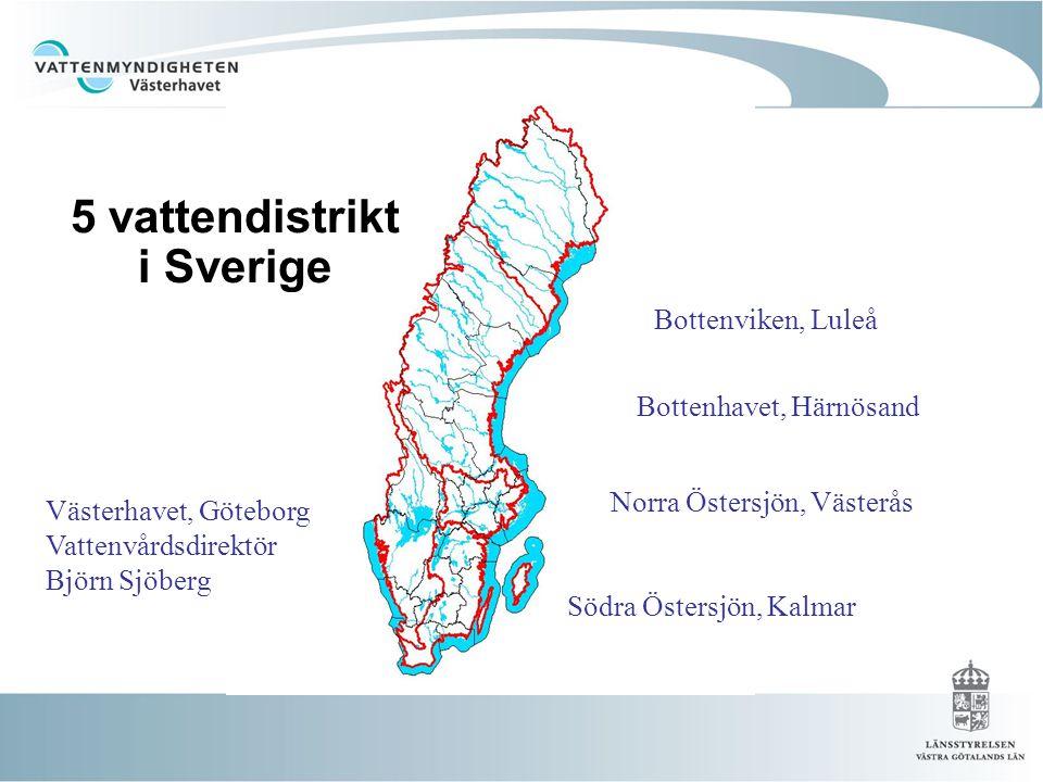 5 vattendistrikt i Sverige