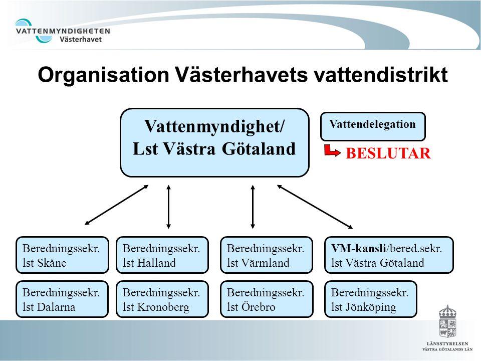 Organisation Västerhavets vattendistrikt