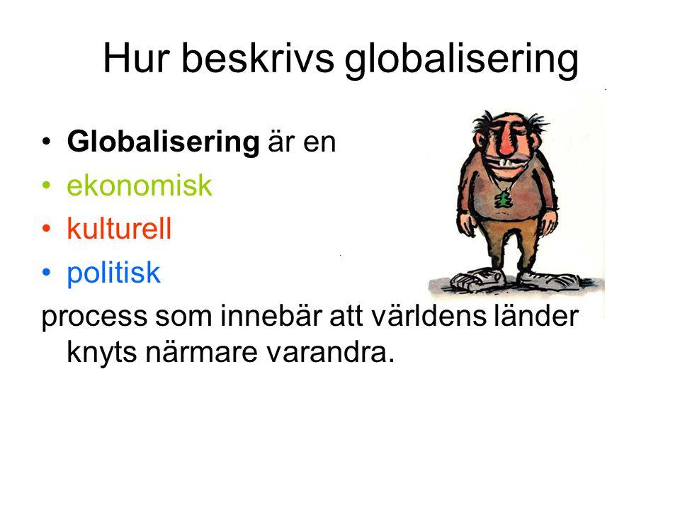 Hur beskrivs globalisering