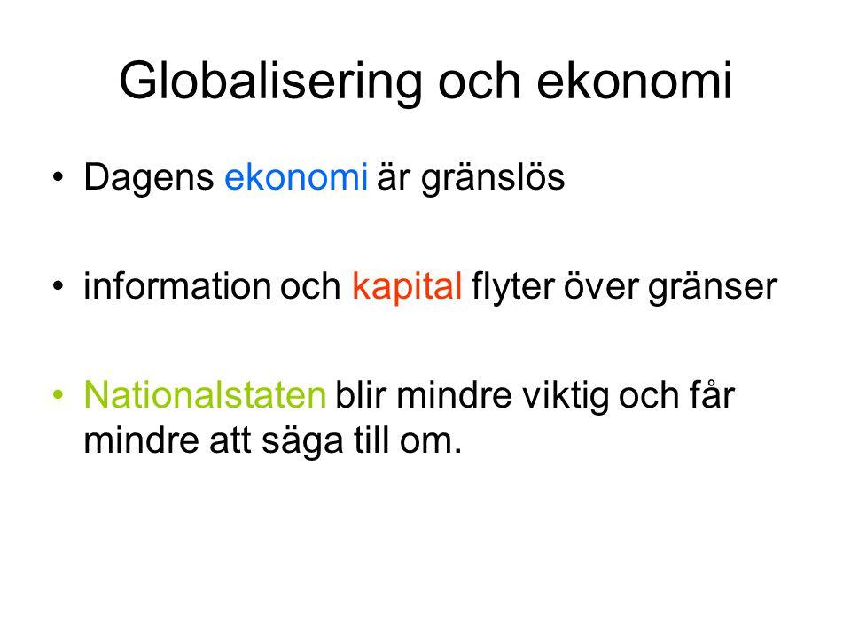 Globalisering och ekonomi