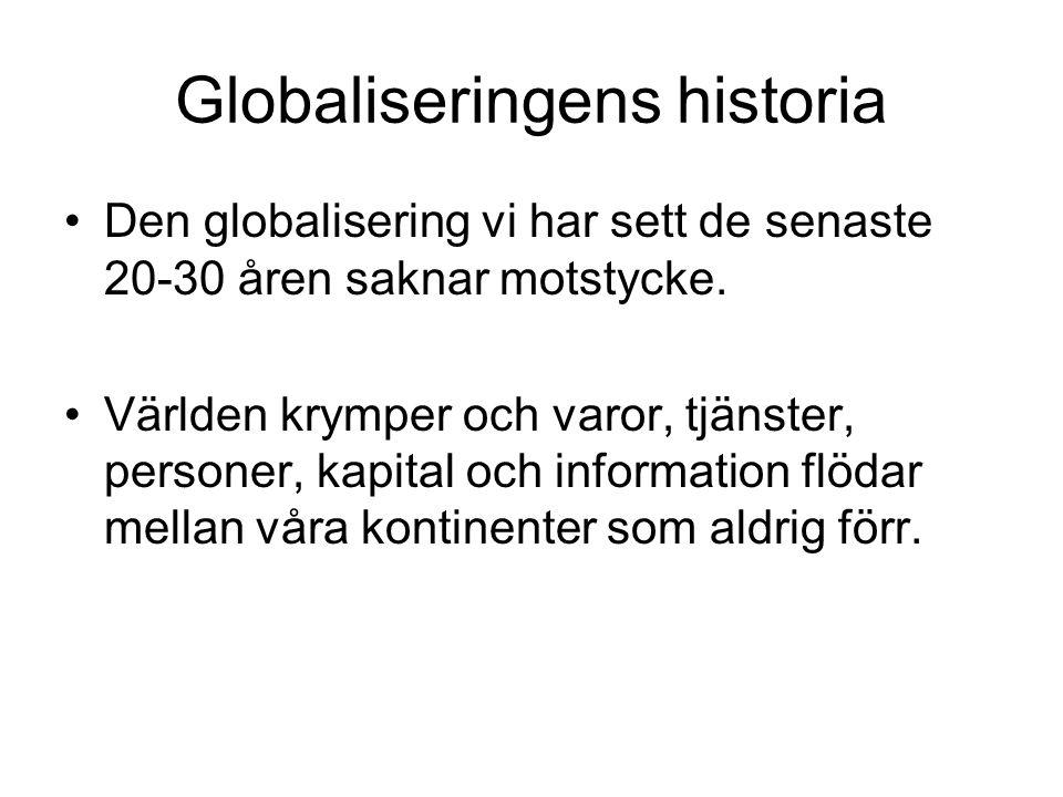 Globaliseringens historia