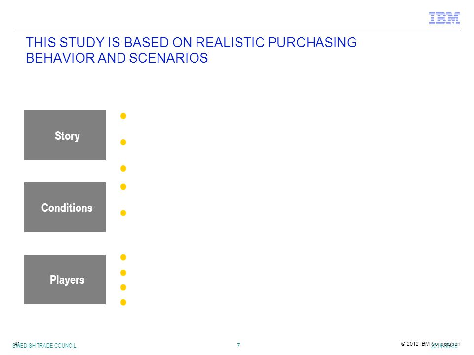 THIS STUDY IS BASED ON REALISTIC PURCHASING BEHAVIOR AND SCENARIOS