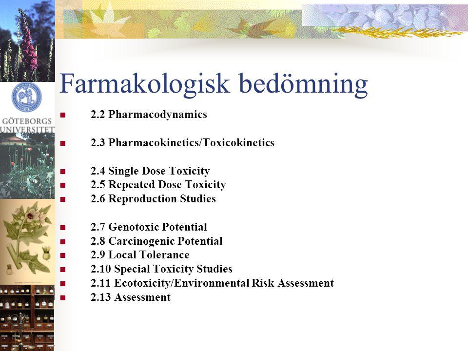 Farmakologisk bedömning