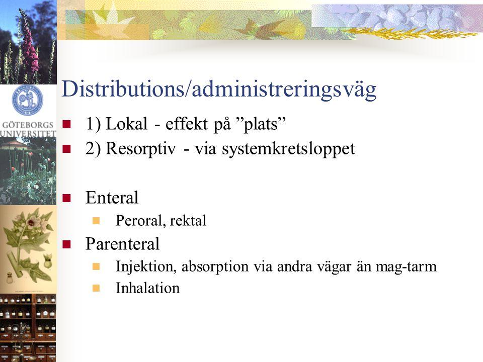 Distributions/administreringsväg
