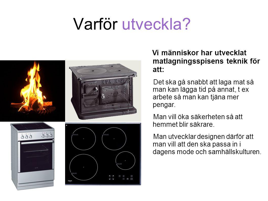 Varför utveckla Vi människor har utvecklat matlagningsspisens teknik för att:
