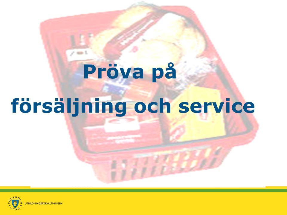 Pröva på försäljning och service