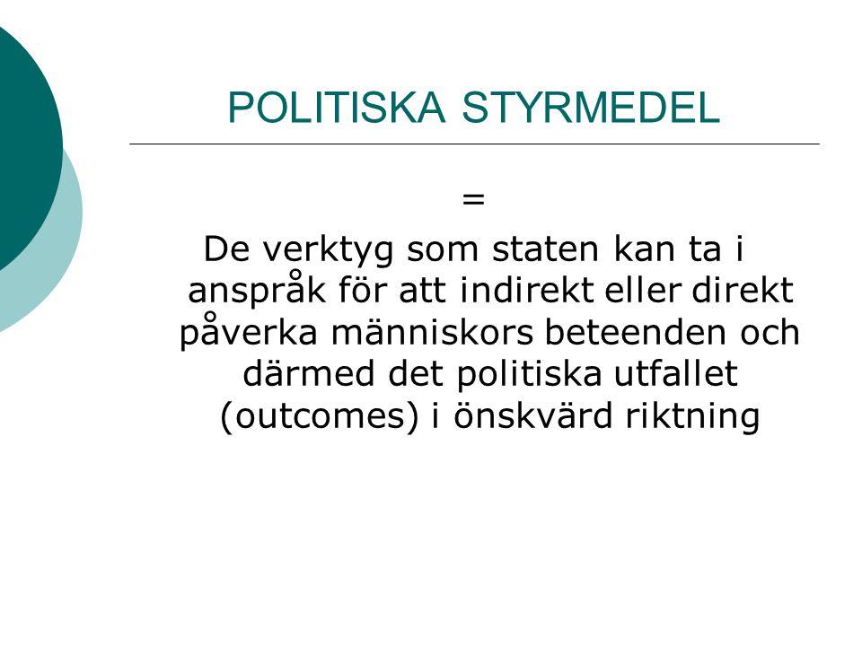 POLITISKA STYRMEDEL =