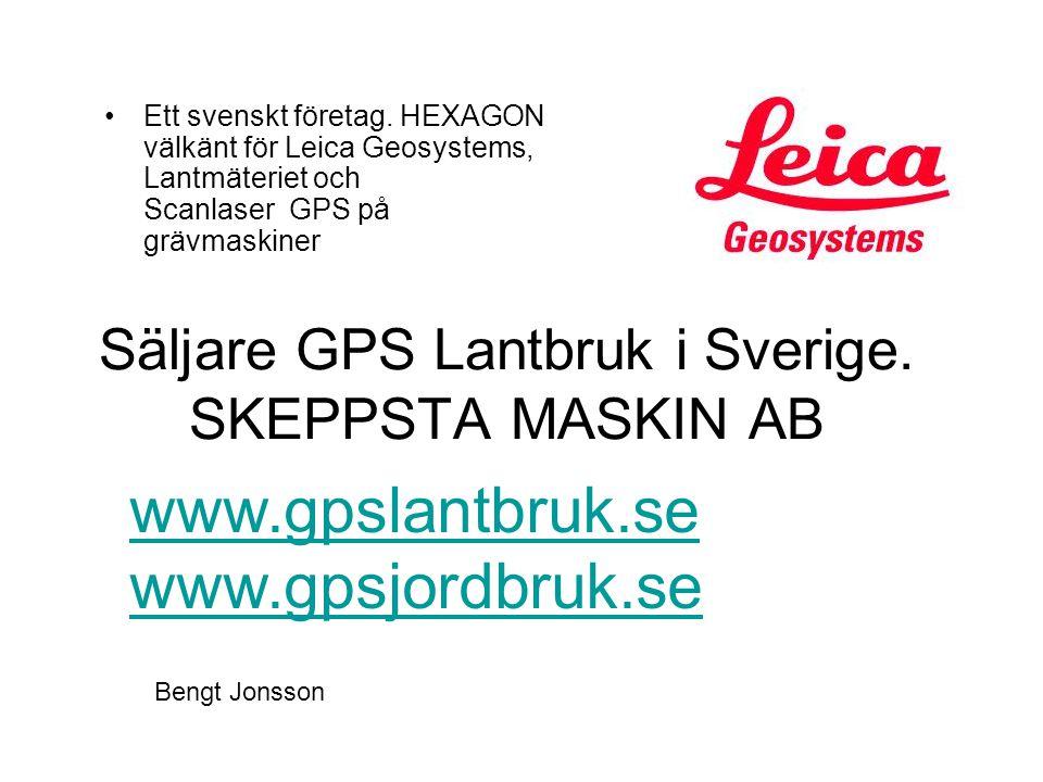 Säljare GPS Lantbruk i Sverige. SKEPPSTA MASKIN AB