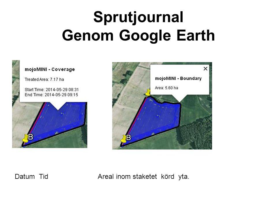 Sprutjournal Genom Google Earth